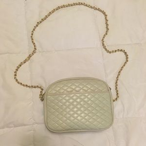 White Quilted chain crossbody